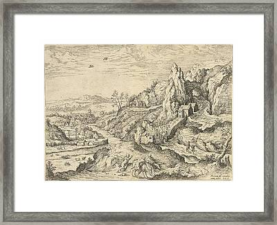 Abraham And Isaac On The Road To The Place Of Sacrifice Framed Print by Hieronymus Cock And Matthys Cock