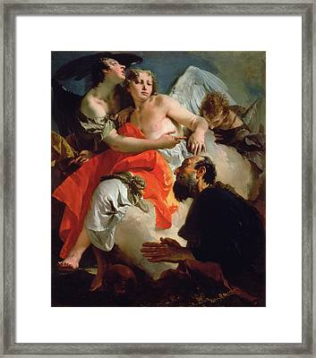 Abraham And The Three Angels Framed Print
