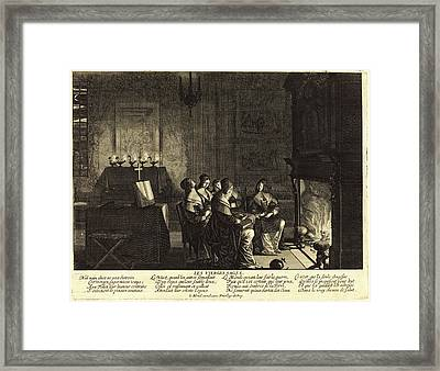 Abraham Bosse, French 1602-1676, The Wise Virgins Framed Print by Litz Collection
