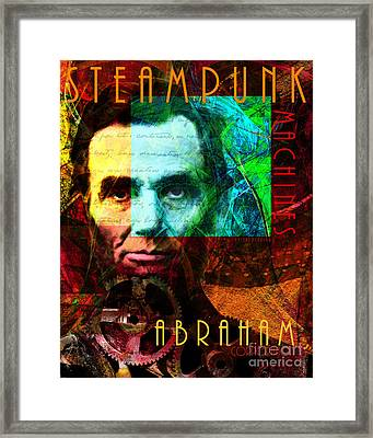 Abraham Corporation Steampunk Machines Patent Pending 20140207v1 Vertical Framed Print by Wingsdomain Art and Photography
