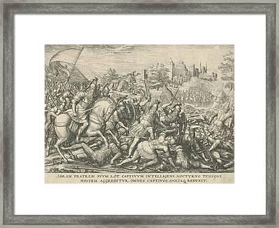 Abraham Frees Lot, Attributed To Symon Novelanus Framed Print