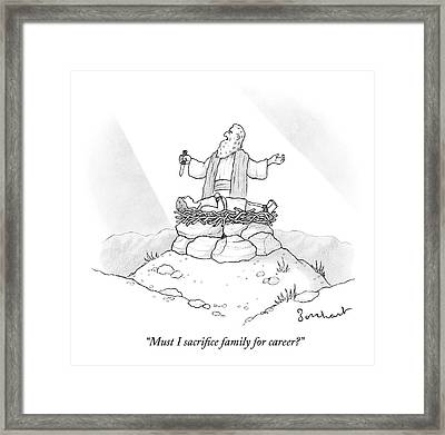 Abraham Is About To Sacrifice His Son Framed Print by David Borchart