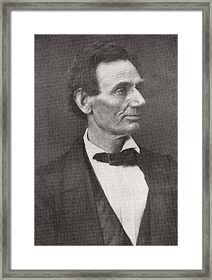 Abraham Lincoln, 1860 Framed Print