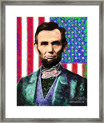 Abraham Lincoln 20130115 Framed Print by Wingsdomain Art and Photography