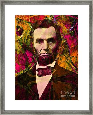 Abraham Lincoln 2014020502 Framed Print by Wingsdomain Art and Photography