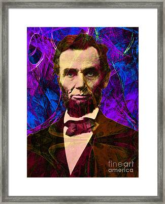 Abraham Lincoln 2014020502m118 Framed Print by Wingsdomain Art and Photography