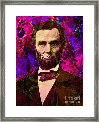 Abraham Lincoln 2014020502m68 Framed Print by Wingsdomain Art and Photography