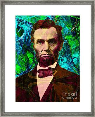 Abraham Lincoln 2014020502p145 Framed Print by Wingsdomain Art and Photography