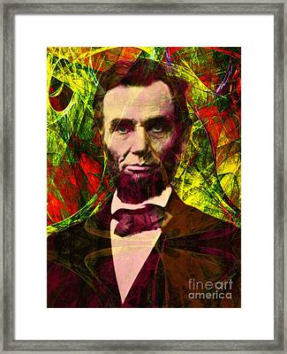Abraham Lincoln 2014020502p28 Framed Print by Wingsdomain Art and Photography