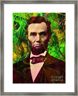 Abraham Lincoln 2014020502p68 Framed Print by Wingsdomain Art and Photography