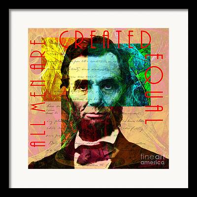 All Men Are Created Equal Framed Prints