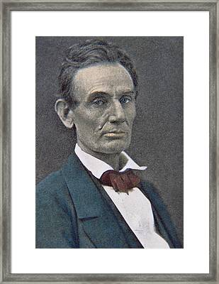 Abraham Lincoln Framed Print by American Photographer
