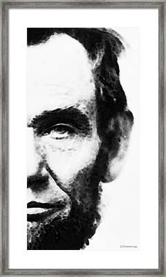 Abraham Lincoln - An American President Framed Print by Sharon Cummings