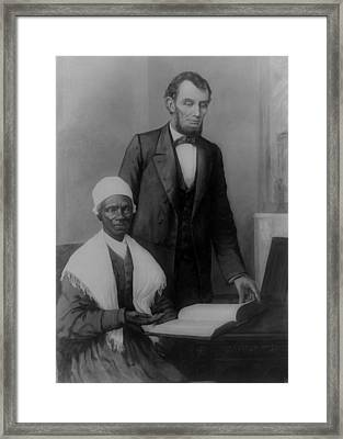 Abraham Lincoln And Sojourner Truth Framed Print