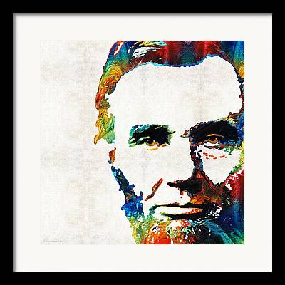Abraham Lincoln Color Framed Prints