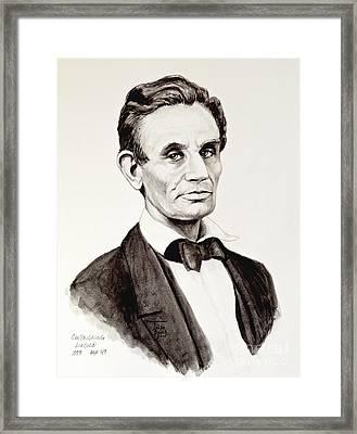 Abraham Lincoln At 49 Framed Print