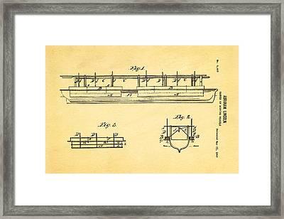 Abraham Lincoln Buoyancy Patent Art 1849 Framed Print