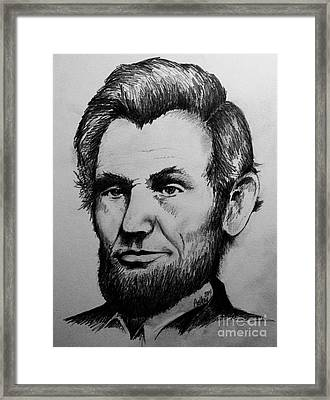 Abraham Lincoln Framed Print by Catherine Howley