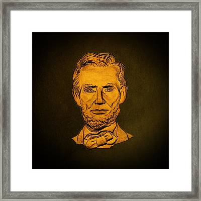 Abraham Lincoln  Framed Print by David Dehner