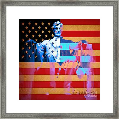 Abraham Lincoln - Freedom Framed Print by Wingsdomain Art and Photography