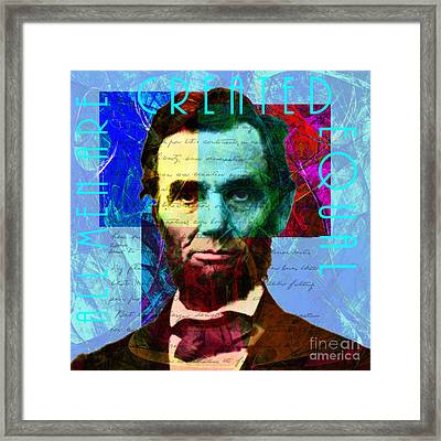 Abraham Lincoln Gettysburg Address All Men Are Created Equal 2014020502p180 Framed Print by Wingsdomain Art and Photography
