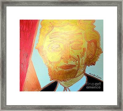 Abraham Lincoln Gold 1 Framed Print by Richard W Linford