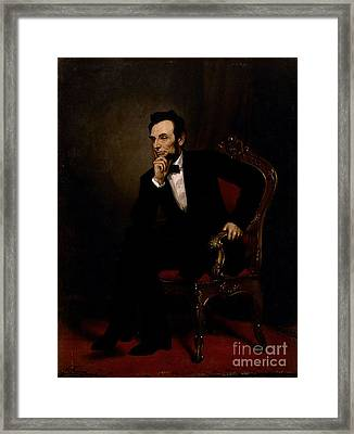 Abraham Lincoln Framed Print by GPA Healy