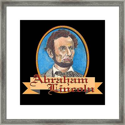 Abraham Lincoln Graphic Framed Print by John Keaton