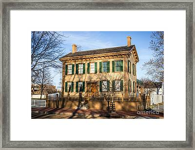 Abraham Lincoln Home In Springfield Illinois Framed Print