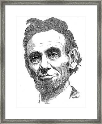Abraham Lincoln Framed Print by Jack Puglisi