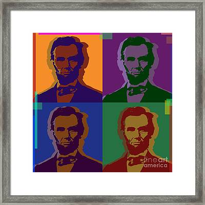Abraham Lincoln Framed Print by Jean luc Comperat