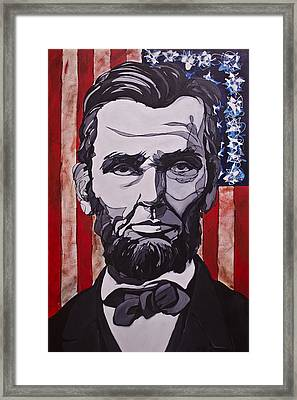 Framed Print featuring the painting Abraham Lincoln by John Gibbs