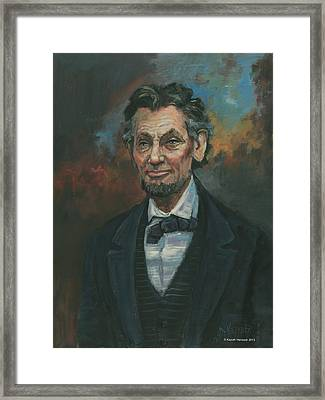 Abraham Lincoln Framed Print by Kaziah Hancock