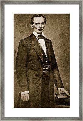 Abraham Lincoln Framed Print by Mathew Brady