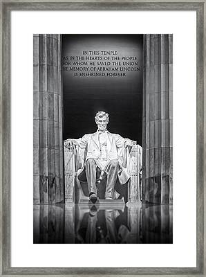 Abraham Lincoln Memorial Framed Print by Susan Candelario