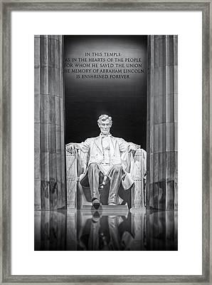 Abraham Lincoln Memorial Framed Print