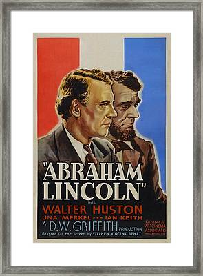 Abraham Lincoln Framed Print by Movie Poster Prints