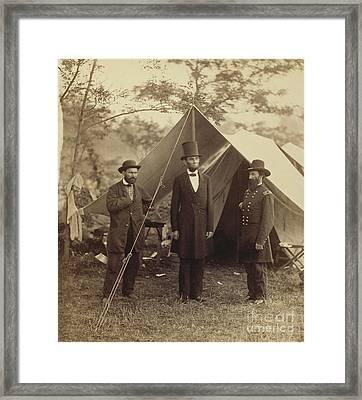 Abraham Lincoln Near Antietam 1862 Framed Print