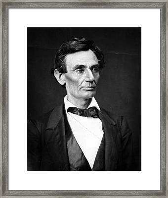 Abraham Lincoln Portrait Framed Print by Anonymous