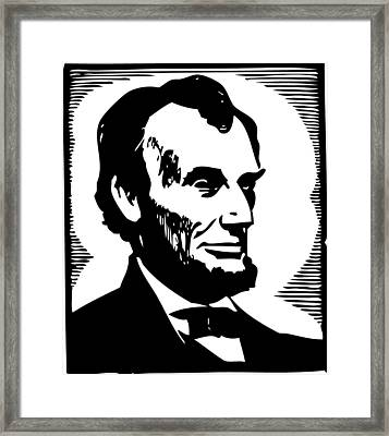 Abraham Lincoln Portrait Framed Print