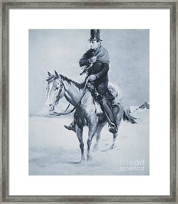 Abraham Lincoln Riding His Judicial Circuit Framed Print by Louis Bonhajo
