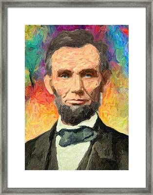 Abraham Lincoln  Framed Print by Taylan Apukovska