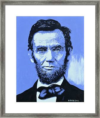 Abraham Lincoln Framed Print by Victor Minca