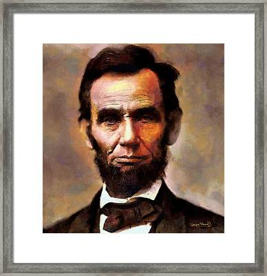 Abraham Lincoln Framed Print by Wayne Pascall