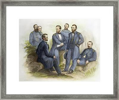 Abraham Lincoln(1809-1865) Framed Print by Granger