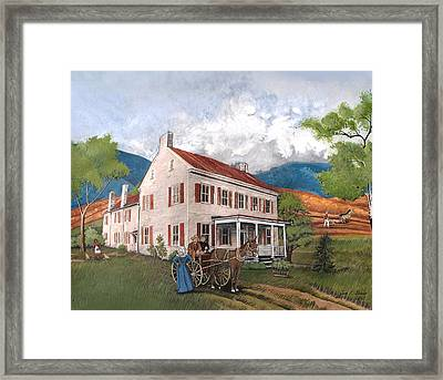Abraham Lincoln's Ancesteral Home Framed Print by Joan Shaver