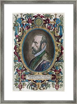 Abraham Ortelius, Dutch Cartographer Framed Print by Middle Temple Library
