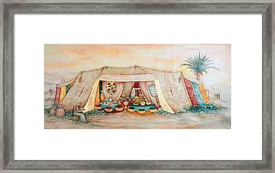 Abraham's Tent Framed Print by Michoel Muchnik