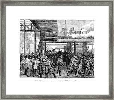 Abram Colliery Disaster Framed Print by Granger