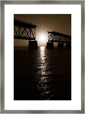 Abridged Bridge Framed Print by Daniel Woodrum